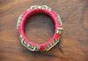 Thick Pink Zardozi Bangle