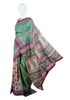 Block Printed Tussar Silk Saree Design 1