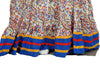 White and Blue Crinkled Long Blockprinted Skirt