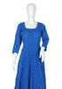 Blue and Pink Ikat Anarkali Dress
