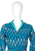 Dark Blue and Light Blue Ikat Dress