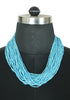 Light Blue Beaded Tribal Necklace