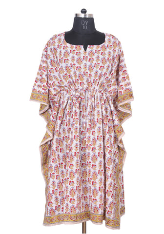 Block Printed Short Kaftan Design 2