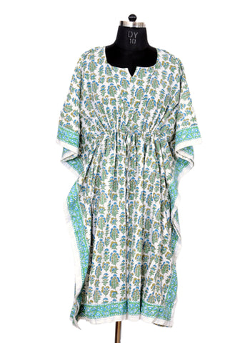 Block Printed Short Kaftan Design 3