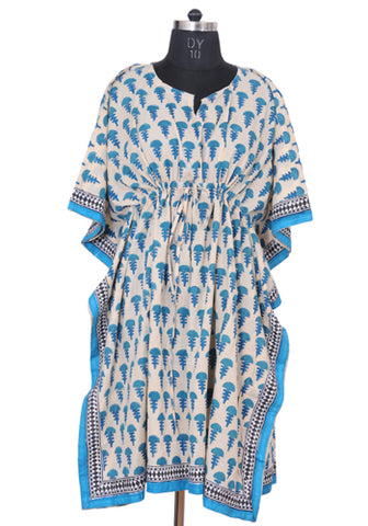 Block Printed Short Kaftan Design 4