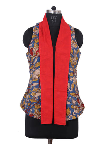 Kalamkari Reversible Jacket Design 3
