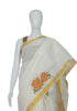 Kerala Saree with Handpainted Mural Design 6