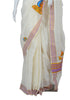 Kerala Saree with Handpainted Mural Design 7