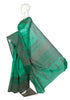 Green Blockprinted Chanderi Saree Design 1