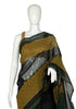Black Blockprinted Chanderi Saree Design 2