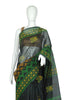 Black Blockprinted Chanderi Saree Design 3