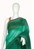 Green Blockprinted Chanderi Saree Design 2