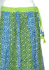 Blue and Green Blockprinted Skirt Design 2