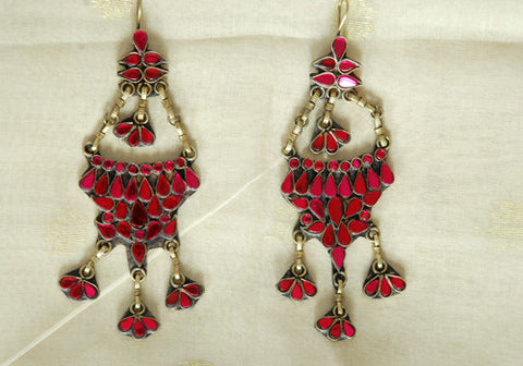 Tribal Afghan Earrings Design 29