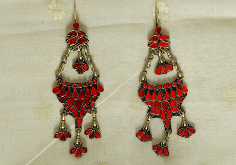 Tribal Afghan Earrings Design 30