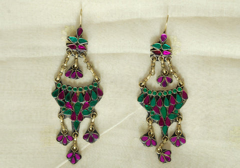 Tribal Afghan Earrings Design 34