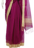 Purple and Yellow Cotton Handloom Saree