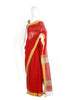 Red and Yellow Cotton Handloom Saree