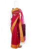 Pink and Yellow Muslin Saree with Mulberry Border Design 2