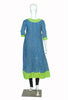 Blue and Green Blockprinted Anarkali