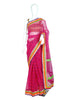 Blockprinted Magenta Kota Saree with Multicolour Border