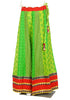 Green and Red Blockprinted Skirt