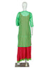 Pink and Green two piece Anarkali