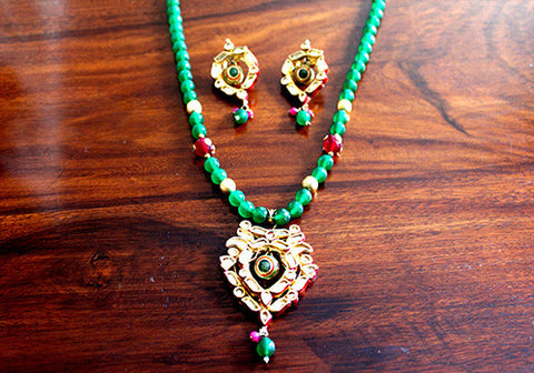 Kundan Necklace and Earring Set Design 2