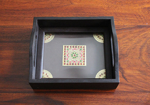 Tanjore Flower Tray