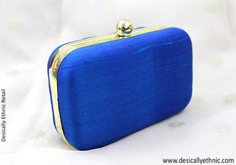 Dark Blue Box Clutch