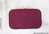 Maroon Box Clutch