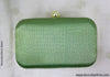 Green Brocade Box Clutch