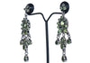 Silver Earrings with Semi Precious Stones Design 17
