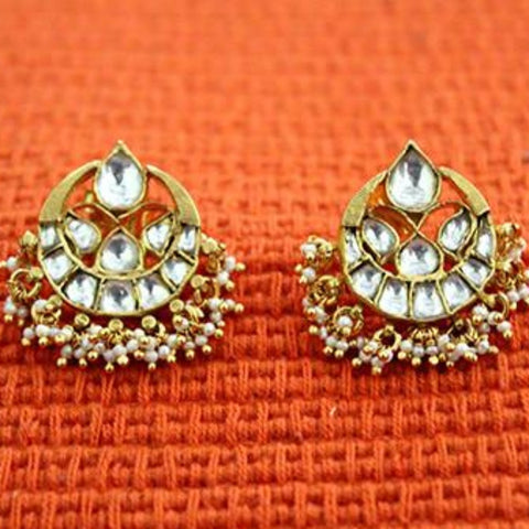 Silver Jadau Earrings Design 16