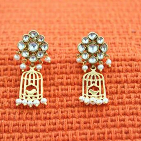 Silver Jadau Earrings Design 15