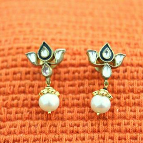 Silver Jadau Earrings Design 13