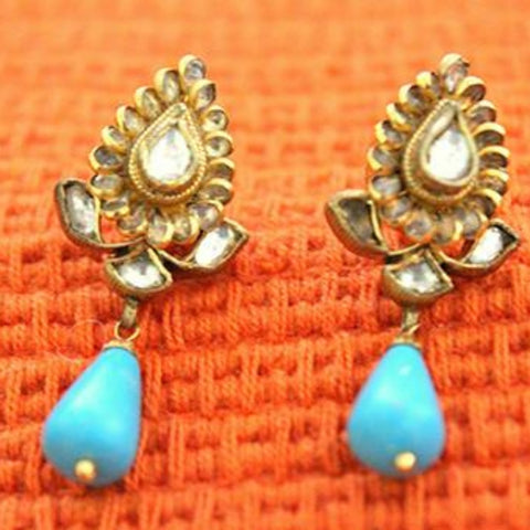 Silver Jadau Earrings Design 22