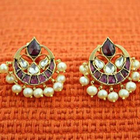 Silver Jadau Earrings Design 10
