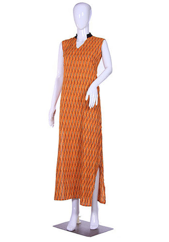 Yellow Ikat Maxi Dress