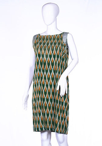 Green Ikat Tunic Dress