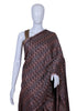 Ajrakh Blockprinted Gajji Silk Saree Design 8