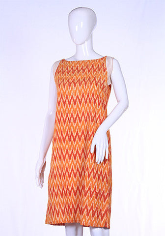 Orange Ikat Tunic Dress