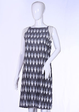 Grey Ikat Tunic Dress