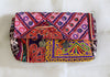Vintage Kutch Embroidery Clutch With Coins (Design 11)