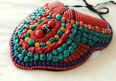 Tribal Bib Necklace design 1