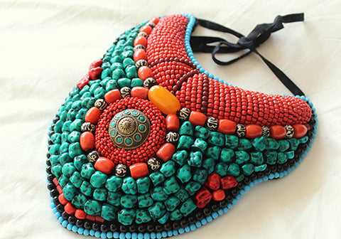 Tribal Bib Necklace design 2