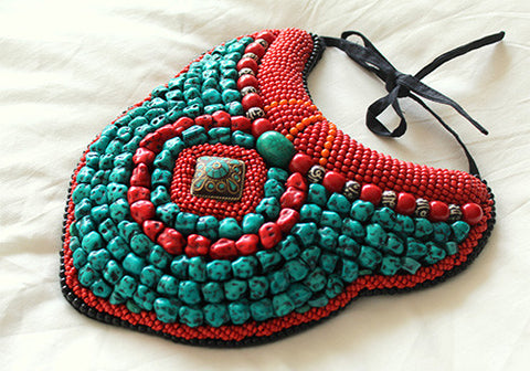 Tribal Bib Necklace design 5