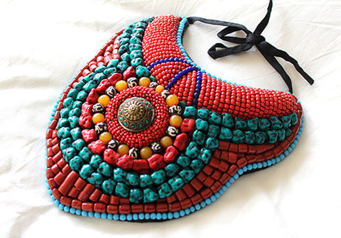 Tribal Bib Necklace design 7