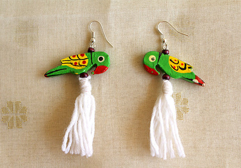 Wooden Bird Earrings Design 19