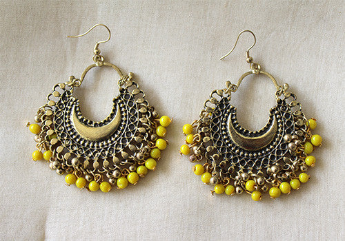 Colourful Tribal Afghan Earrings Desically Ethnic